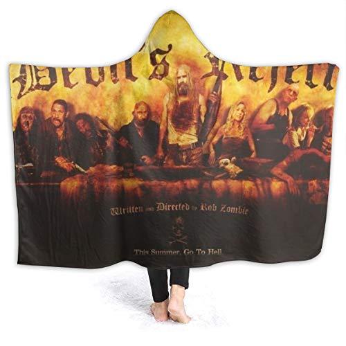 ZJWZJW Devils Rejects, Hooded Blanket Soft Fashion Oversized Cloak Cape Shawl Blanket Throw with Hood for Men Womens Kids