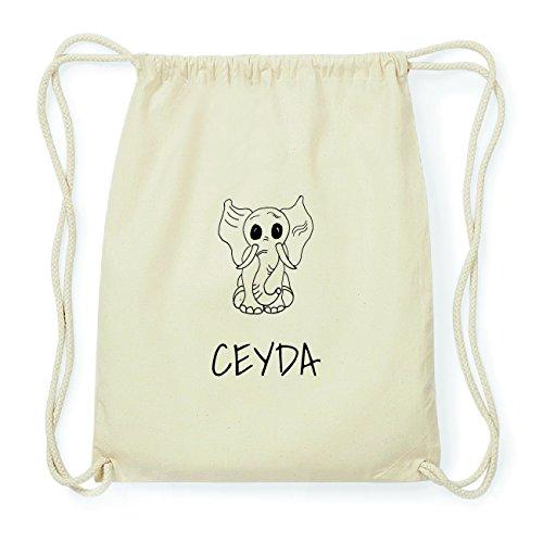 JOllipets CEYDA Hipster Turnbeutel Tasche Rucksack aus Baumwolle Design: Elefant