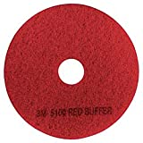 3M 08392 Low-Speed Buffer Floor Pads 5100, 17'' Diameter, Red (Case of 5)