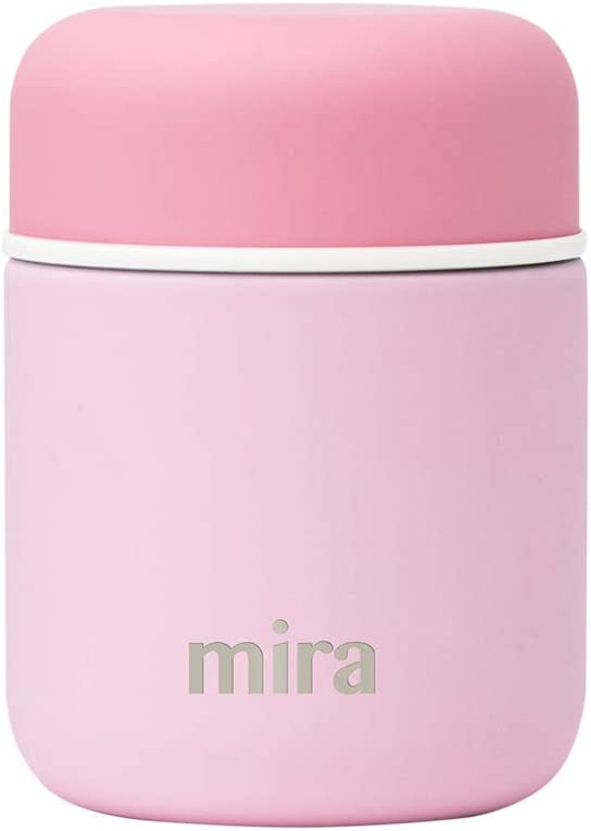 MIRA 9 oz Lunch, Food Jar - Vacuum Insulated Stainless Steel Lunch Thermos - Pink
