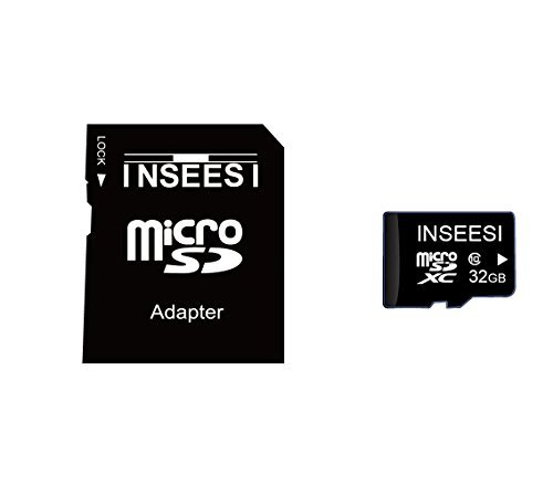 Inseesi Flash Memory Card 32GB Classs 10 High Speed up 10M/s Micro SD Card Real Full Capacity Micro SD Card for Android Smartphone Phone/Tablet/Action Camera