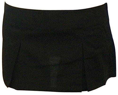 Folter TEACHERS PET Pleated Plaid MICRO MINI SKIRT- In Choice of Colors (X-Large, Black)