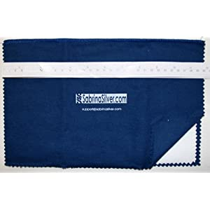 Polishing Cloth for Silver, Gold, Brass & Most Other Metals, 12×15 Largest Size