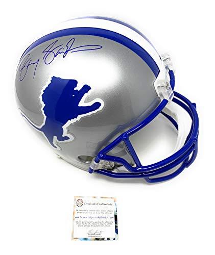 Barry Sanders Detriot Lions Signed Autograph Full Size Helmet Schwartz Sports Authentic ()