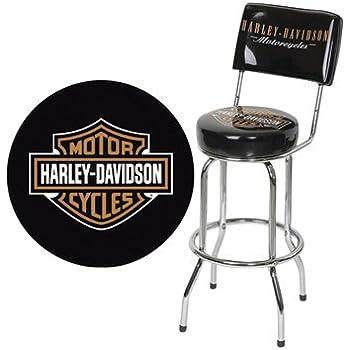 Amazon Com Harley Davidson Bar Stool With Backrest