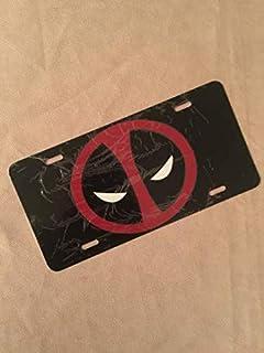 Marvel Deadpool Creative Metal Tag License Plate