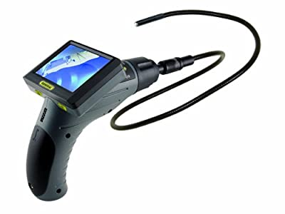 General Tools DCS300-09 The Seeker 300 Video Inspection System with 9mm Diameter 1-Meter Long Probe and 3.5-Inch Screen