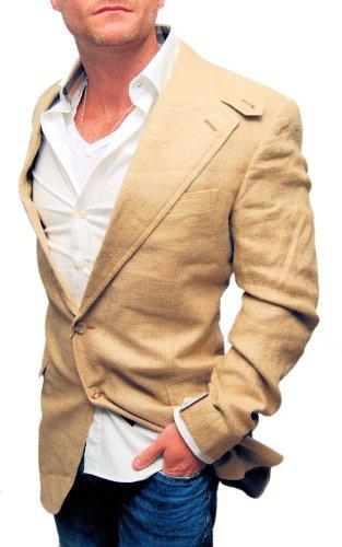 Ralph Lauren Mens Silk Flax Blazer Sport Coat Italy Beige...
