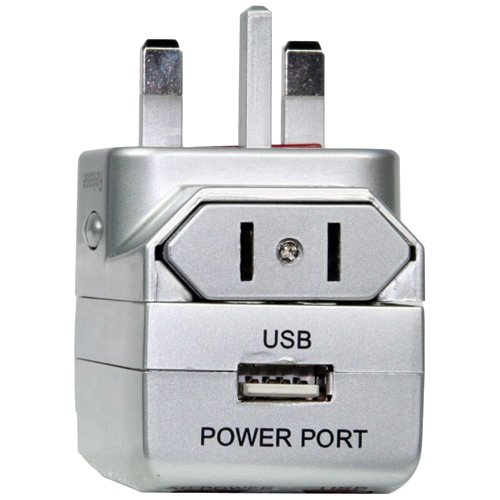 Sima International Plug - Sima SIP-5USB International Travel Plug with USB