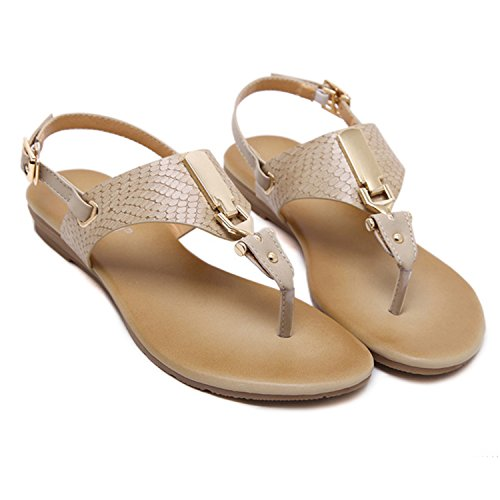 Gladiator D2C Strappy Flat apricot Women's Sandals Roman Thongs Beauty AIHxHrqt