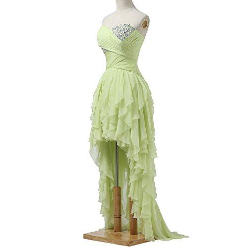 Bridal_Mall - Vestido - trapecio - Sin mangas - para mujer Hell Gruen