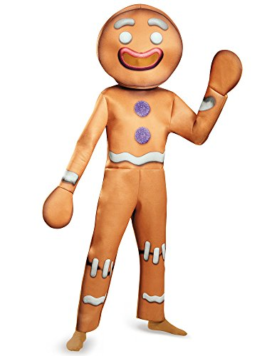 Disguise Men's Shrek Gingy Deluxe Costume, Brown,