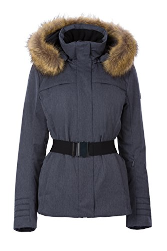 Fera Women's Bella Parka with Faux Fur, 10, 419 Ink (Fera White Jacket)