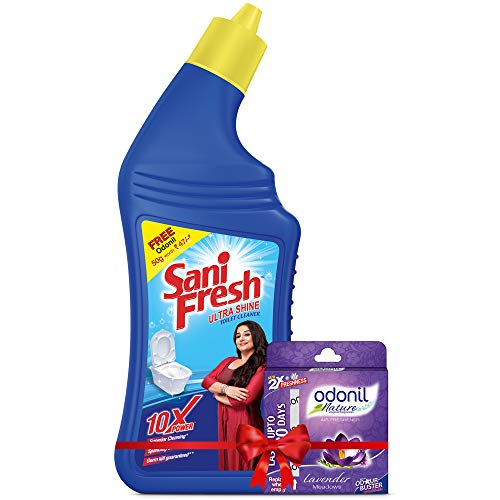 Sanifresh Ultrashine Toilet Cleaner -1.5X Extra Strong Extra Clean -500 ML( Buy 2 Get 1 free)