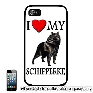 Schipperke I Love My Dog Photo Apple iPhone 5C Hard Back Case Cover Skin Black FITS FOR 5C