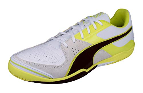 Image of the PUMA Invicto Sala Mens Leather Futsal Soccer Sneakers/Boots-White-9