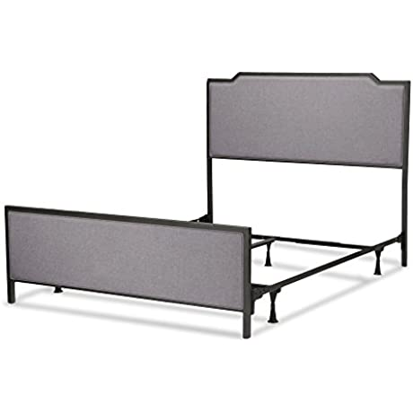 Fashion Bed Group B71533 Bayview Bed With Metal Panels And Gray Dove Upholstery Twin