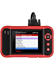 Launch Creader VII+ ABS SRS Engine Transmission OBD2 Reader Car Diagnostic Scanner Tools Clearing Vehicle Fault Codes and Reading Live Data Support for All 10 Test Modes