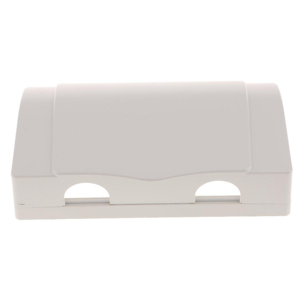 Gazechimp 1 Pieza de Caja Funda Cubierta para Interruptor Switch de Pared Seguridad Resistante de Agua Blanco