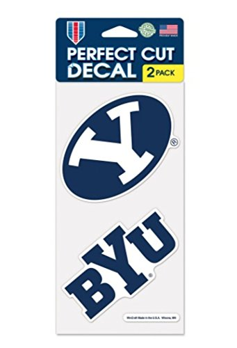 Brigham Young University BYU Cougars 4 x 8 inch Set of Two Decals - Byu Brigham Young University