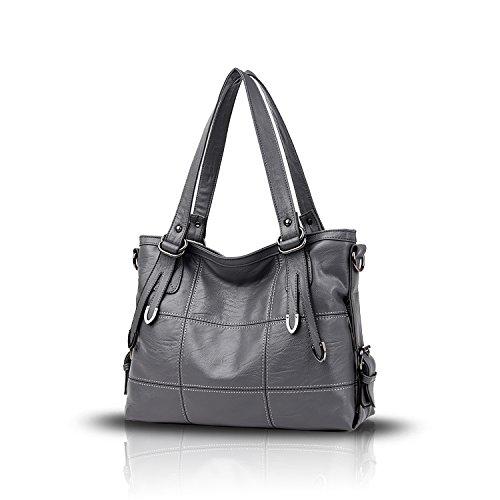 Tisdaini New business women's shoulder bag large-capacity handbag Messenger bag women's handbags leisure wallet Gray