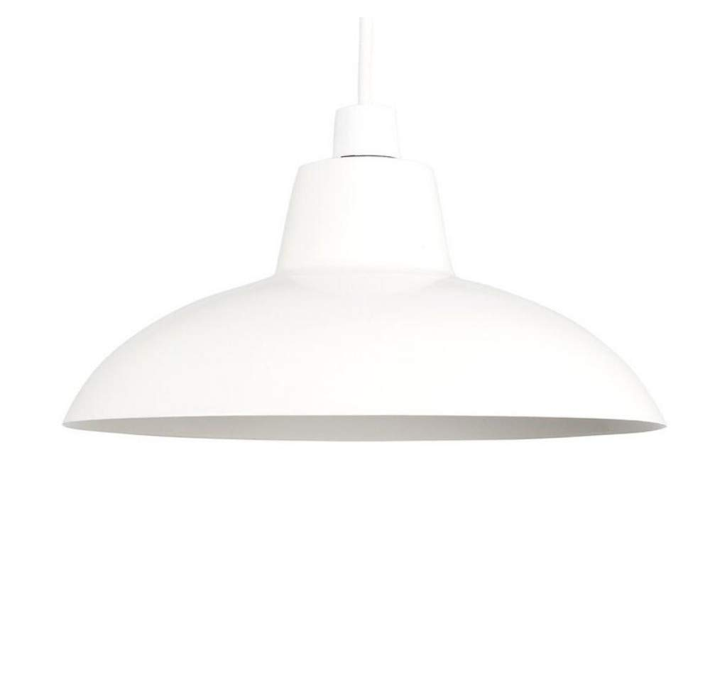 Wall Lampstyle Gloss Cream Metall Easy Fit Deckenpendelleuchte Schirm