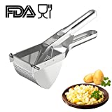 Potato Ricer, Sopito Potato Masher Stainless Steel Squeezer Baby Food Strainer Press Strainer Fruit and Vegetables Ricer For Creamy Fluffy Mashed Potato and Food Recipes Fruit Press