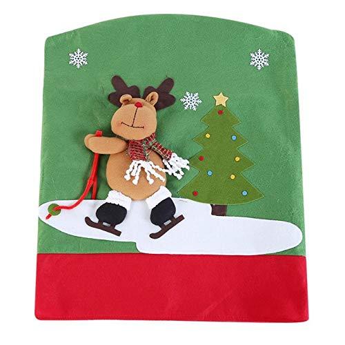 Pendant Drop Ornaments - Christmas Chair Back Cover Santa Claus Snowman Xmas Party Dinner Table Covers Decoration - Decorations Christma Home Table Snowman Decor Enchanted Dinnerware Cover Ring
