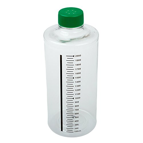 (Celltreat 229385 850cm² Roller Bottle, Sterile, Tissue Culture Treated, Printed Graduations, Vented Cap (Case of 12))