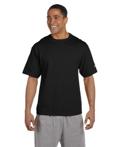 - Champion 7 oz Cotton Heritage Jersey T-Shirt in Black - Medium