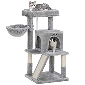 FEANDREA Cat Tree with Sisal-Covered Scratching Posts, Cat Tower, Cat Condo