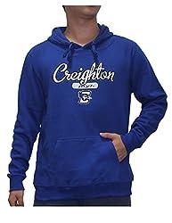 NCAA Youth CREIGHTON BLUEJAYS Athletic Pullover Hoodie / Sweatshirt L Blue