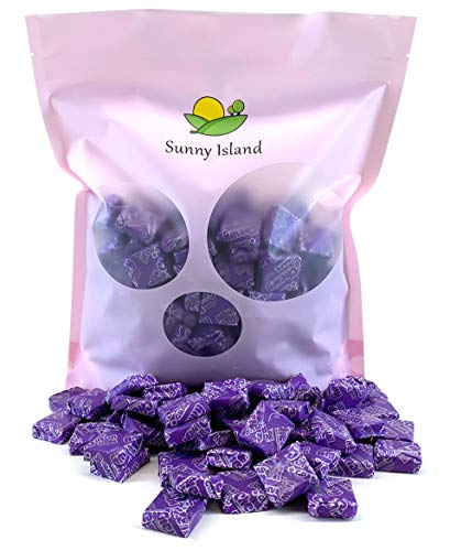 Sunny Island Bulk - Now and Later Soft Taffy Candy Grape Flavor, Individually Wrapped Candy Bulk, 2 Pounds Bag]()