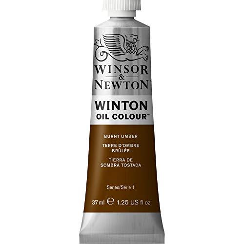 Burnt Umber Oil - Winsor & Newton Winton Oil Colour Paint, 37ml tube, Burnt Umber