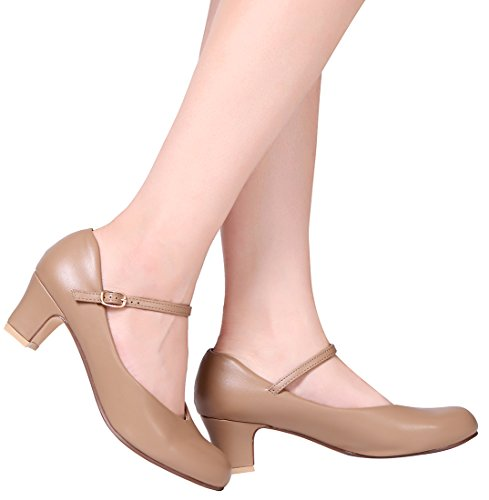 "STELLE 2"" Character Dance Shoe (Women/Big Kid)(Tan, 10M)"