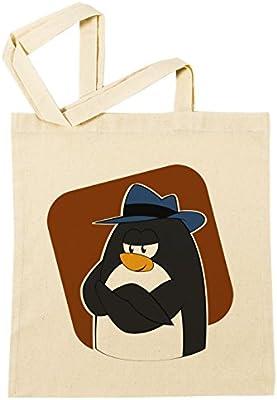 Pingüino Mafia Gángster Bolsa De Compras Playa De Algodón ...