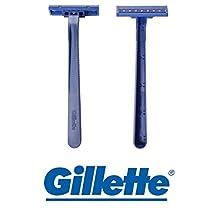 Gíllette Twin-Blade Disposable Razors [European] - 50 COUNT