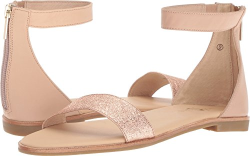 Gold Nappa Footwear - Yosi Samra Women's Cambelle Nude/Rose Gold Nappa/Metallic Leather 6 M US