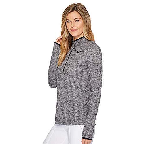 - Nike Dry Women's Golf Dri-Fit 1/2 Zip Pullover Black/Flat Silver AH4503 010 (m)