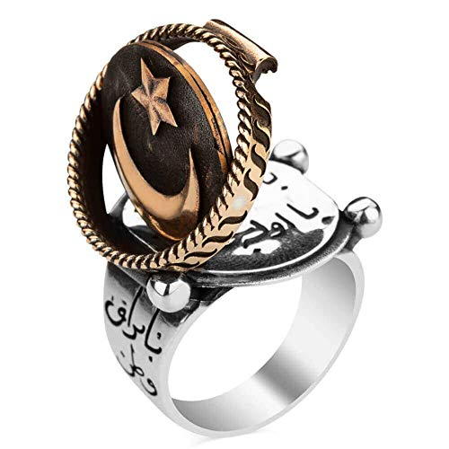 mysilverworld Licensed Solid 925 Sterling Silver Mehmetcik Kutul Amare Halil Pasha Ring (9.5) ()