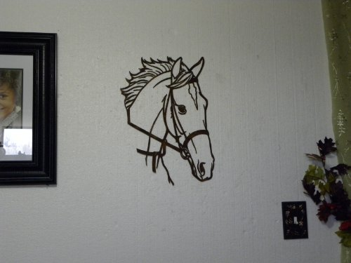 Say It All On The Wall Horse Head Metal Wall Art Country