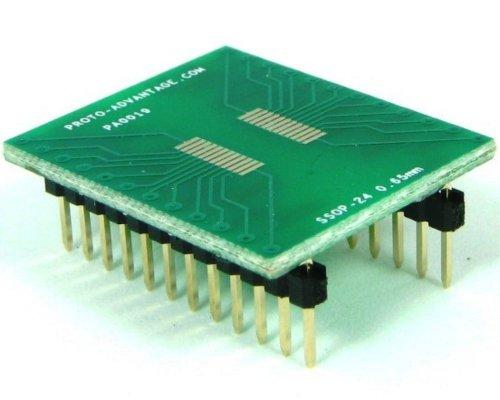 Proto-Advantage SSOP-24 to DIP-24 SMT Adapter (0.65 mm Pitch)