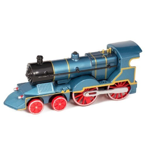 bluee Cast Metal Classic Train Toy with Sounds and Lights by Master Toys & Novelties
