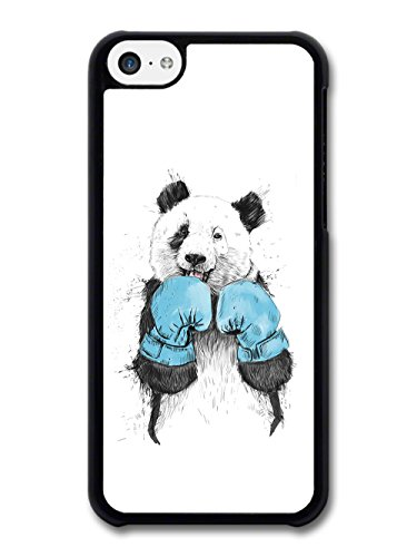 Funny Panda with Blue Boxing Gloves Sparring Illustration case for iPhone 5C