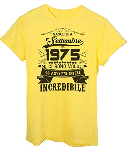 Settembre Giallo Nato Eventi 1975 Compleanno T Essere shirt Incredibile Del A Image Per 43 Anni SqXZ1HS