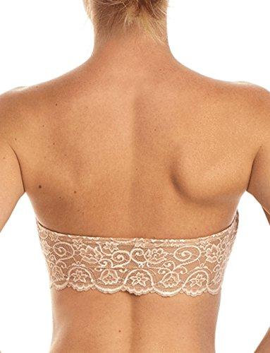 commando Women's Double Take Collection Lace Bandeau, Ivory, M/L