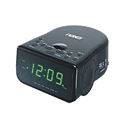 Naxa Electronics NRC-176 Radio Alarm Clock Shiny, Black
