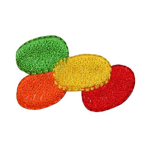 ID 3351 Pile of Jelly Beans Patch Easter Candy Treat Embroidered IronOn Applique