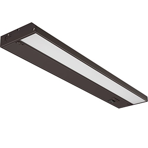 (GetInLight 3 Color Levels Dimmable LED Under Cabinet Lighting with ETL Listed, Warm White (2700K), Soft White (3000K), Bright White (4000K), Bronze Finished, 18-inch, IN-0210-2-BZ )