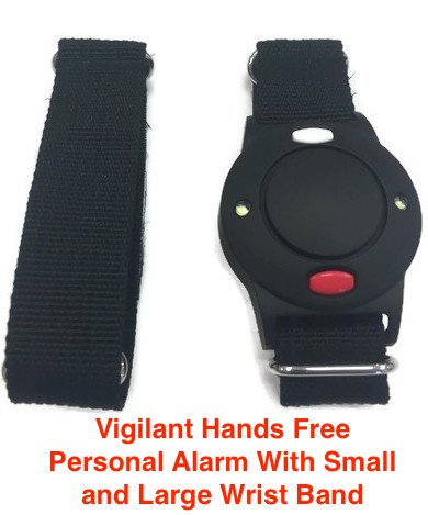 Vigilant PPS-35BRS 125dB Wrist Personal Alarm with Sweat Proof Wrist Band by Vigilant Personal Protection Systems (Image #1)